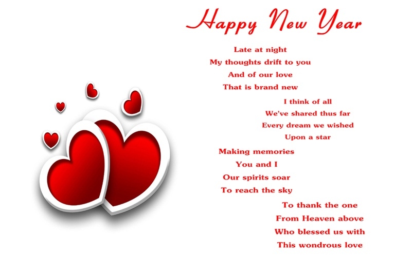 Happy New Year Poems For Wife