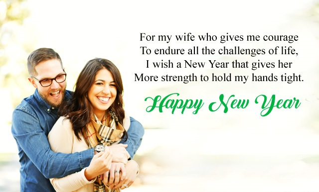 Happy New Year Wishes for Wife