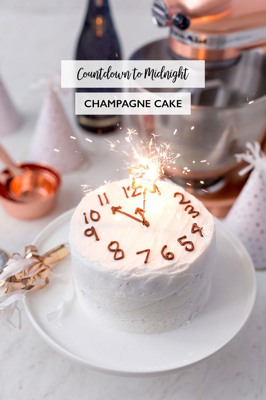 Happy New Years Eve Countdown Champagne Cake