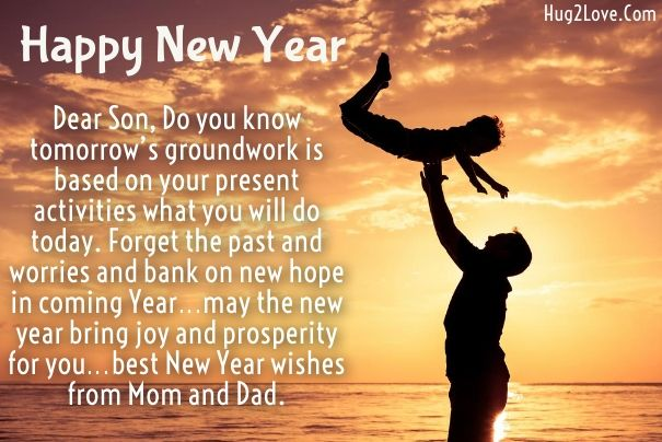 Happy New Year 2020 Wishes for Daughter and Son