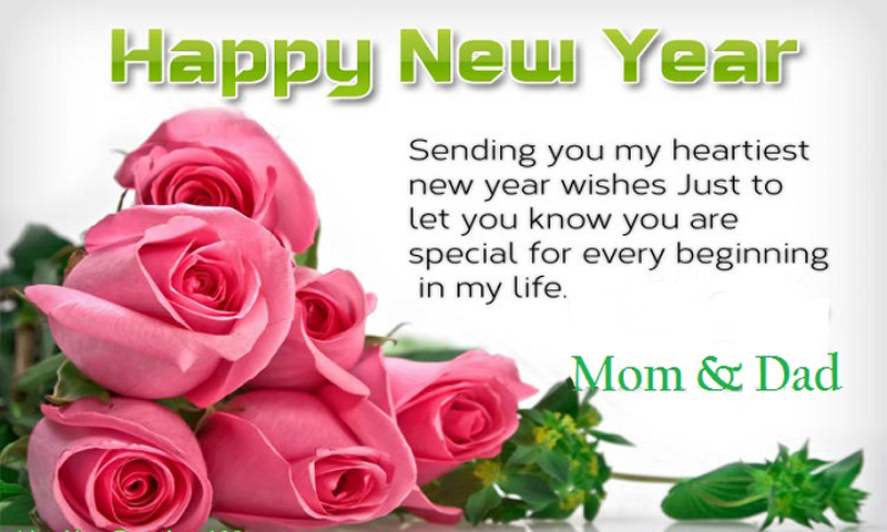 Happy New Year Wishes for Mom Dad