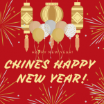 Chines Happy New Year Greeting Card