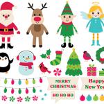 Merry Christmas Happy New Year Clip Art