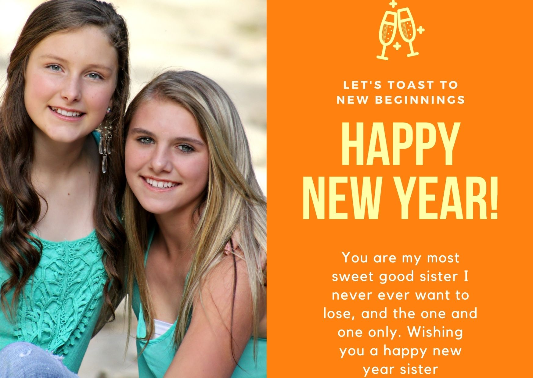 New Year Wishes To Sister From Sister